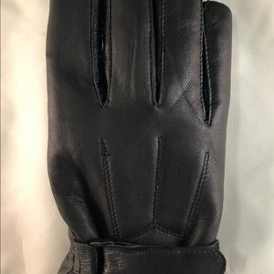 New Real leathers winter wool lining gloves